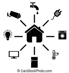 Smart home Vector Clip Art EPS Images. 9,980 Smart home