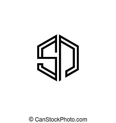 Sn letter logo icon design template elements. Letter logo