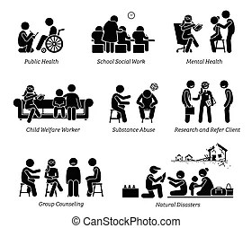 Family abuse children pictogram. A set of pictograms