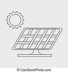 Solar energy photovoltaic panel. vector graphic design.