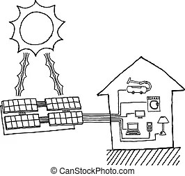 Solar energy diagram. Illustration showing the diagram of