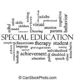 Education word cloud concept. A word cloud concept around