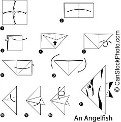 Step by step instructions how to make origami an acorn.