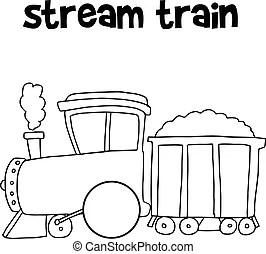Vector of speed train. Vector illustration of bullet train