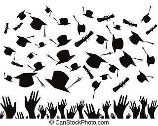 Graduation cap throw Clipart and Stock Illustrations. 654