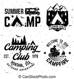 Summer camp. vector illustration. concept for shirt or