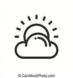 Kids weather drawing vector template design illustration.