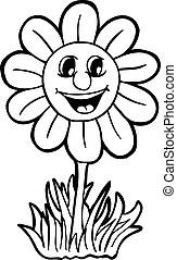 Smile colored flower or sunflower. Vector , object