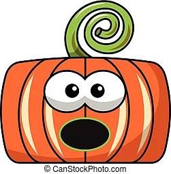 cartoon halloween pumpkin witch