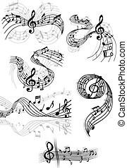 Musical score Stock Illustrations. 1,411 Musical score