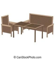 restaurant table romantic vector cafe dinner chair flat icon illustration
