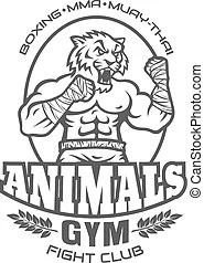Tiger wrestling team design with mascot for school