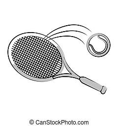 Tennis banner background. tennis ball racket poster sport