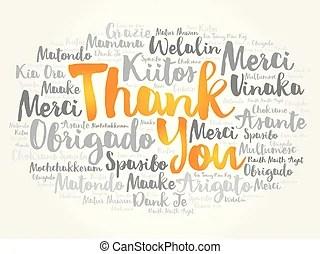 thank you illustration word