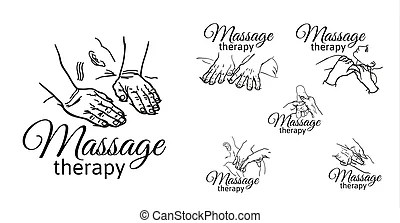 Massage spa therapy wellness. A set of pictogram