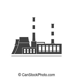 Heat power station. On drawing is expressed industrial