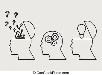 Thinking process. Stock vector which symbolize of thinking