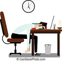 businessman sleeping office