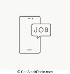 Chatting with touch screen mobiles. Vector illustration of