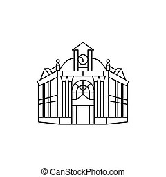 Town hall Clip Art Vector and Illustration. 2,209 Town