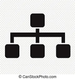 Corporate structure chart illustration showing chain of