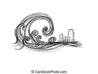 Tsunami Illustrations and Clipart. 2,252 Tsunami royalty