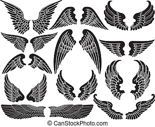 wings illustrations graphics clipart