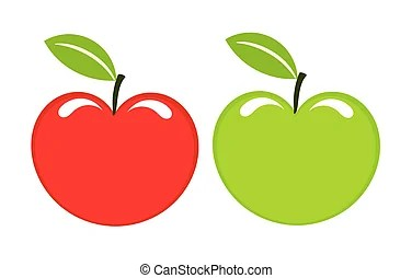 two apples illustrations and clipart