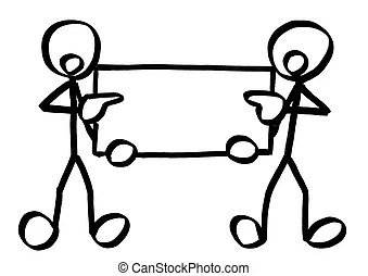 Stick figures board. Illustration of a stick figure couple