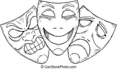 Comedy mask Vector Clip Art Royalty Free. 4,157 Comedy
