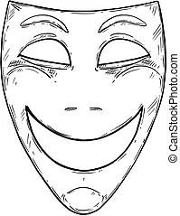Comedy mask Vector Clip Art Royalty Free. 4,157 Comedy