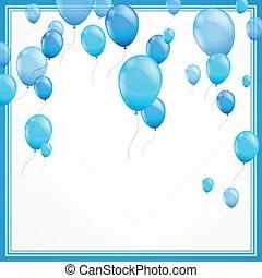 blue balloons illustrations