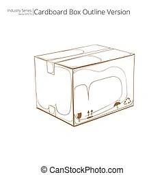 Export cardboard box. Export package or exporting cargo