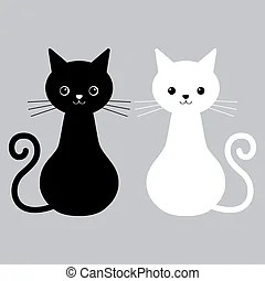 Download Vector illustration of cat love story.