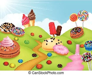 candyland illustrations and clipart