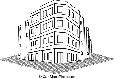 Real estate objects sketch. Doodle style real estate
