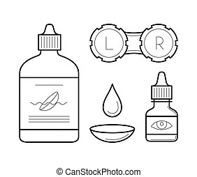 Contact lens Vector Clipart EPS Images. 1,555 Contact lens