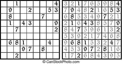 Vector sudoku game. task for logic. mathematical puzzle