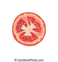 slice tomato vector clipart royalty