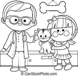 Otoscope Coloring Page