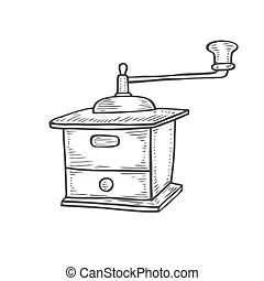 Coffee grinder Clipart Vector Graphics. 4,525 Coffee