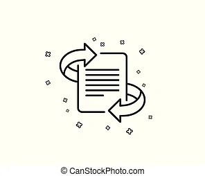 Marketing line icon. page with arrows sign. article symbol