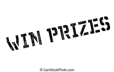 Prizes-stamp. Grunge rubber stamp with word prizes,vector