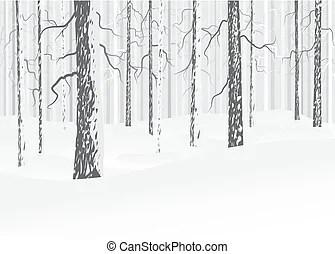 Winter twig, blizzard.