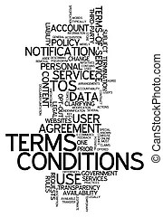 Terms of service yellow envelope tos conditions contract
