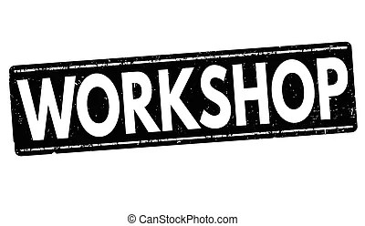 Workshop training-stamp. Grunge rubber stamp with text