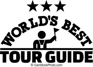 Tour guide icon.