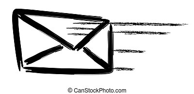 You got mail! You have mail message with @ symbol stock