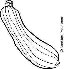 Parsley vegetable cartoon for coloring book. Black and