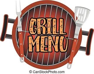 Grill design karte menkarte